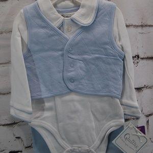 infant 3pc. Bodysuit w/ vest & pants